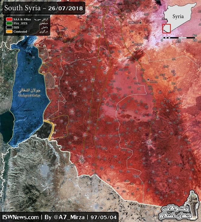 """""""Hổ Syria"""", sư đoàn cơ giới số 4 tốc chiến chiếm thêm loạt cứ địa IS ở Yarmouk, Daraa ảnh 1"""