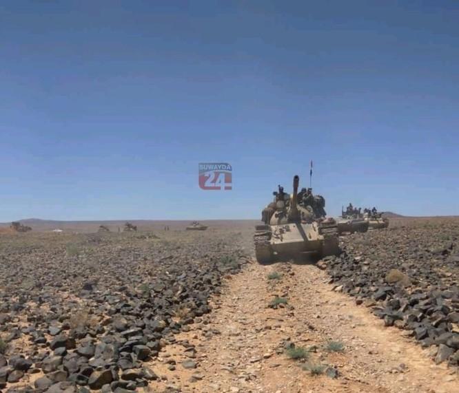 """Quân đội Syria tấn công ác liệt IS ở Sweida, chiến binh khủng bố dự định """"đi vào bí mật"""" ảnh 1"""