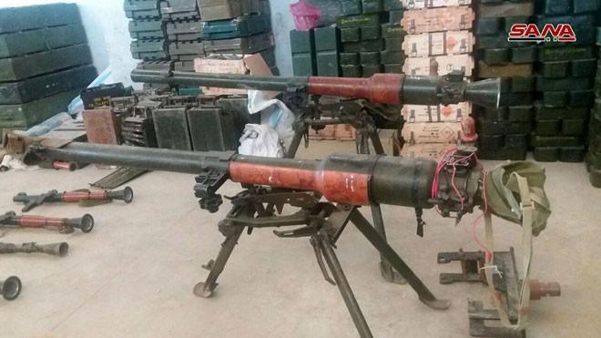 Quân đội Syria phát hiện kho vũ khí phương Tây của phe thánh chiến ở Qunetra ảnh 3