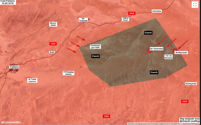 Quân đội Syria quyết giáng đòn kết liễu IS trên sa mạc Deir Ezzor ảnh 1