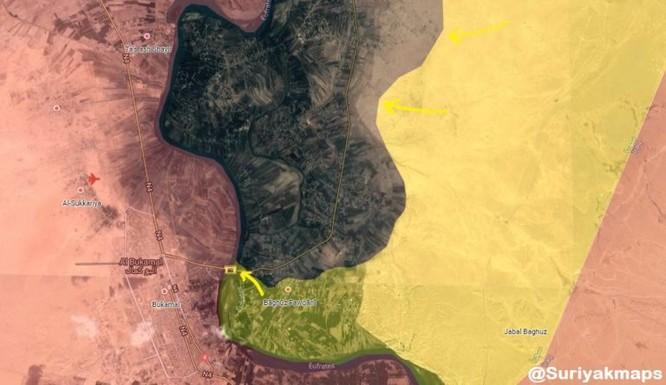Mỹ-Pháp yểm trợ người Kurd Syria đánh thốc vào thung lũng Euphrates, diệt hàng chục tay súng IS ảnh 1