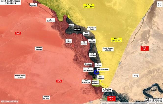 IS phản kích đánh thiệt hại nặng người Kurd trên tuyến lửa Deir Ezzor, Syria ảnh 1