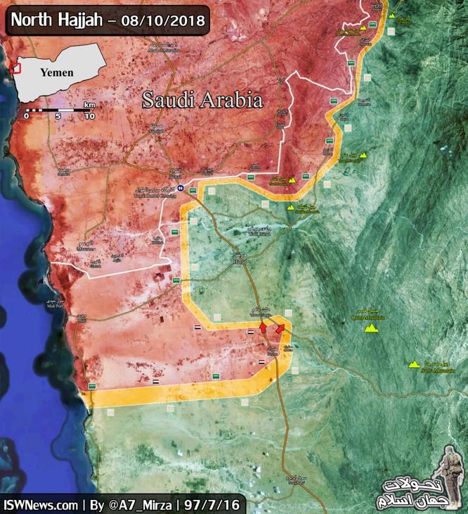 Liên quân Ả rập Xê-út tấn công tỉnh Hajjah, Yemen - Houthi phá hủy xe cơ giới địch ảnh 1