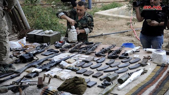 Quân đội Syria chiếm kho vũ khí bí mật của phiến quân Al-Qaeda gần Damascus ảnh 1