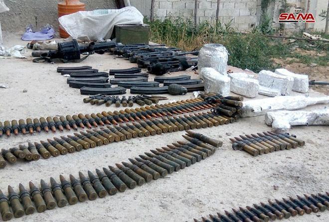 Quân đội Syria chiếm kho vũ khí bí mật của phiến quân Al-Qaeda gần Damascus ảnh 4