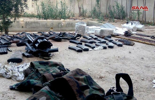 Quân đội Syria chiếm kho vũ khí bí mật của phiến quân Al-Qaeda gần Damascus ảnh 5