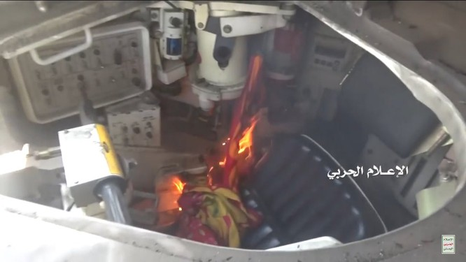 Houthi thiêu hủy một xe tăng M1A2 Abrams của quân đội Ả rập Xê-út ảnh 3