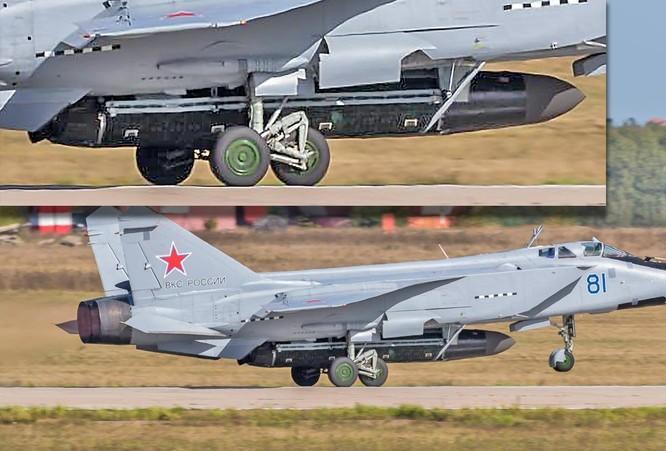 Lộ ảnh máy bay tiêm kích tầm xa MiG – 31D mang tên lửa chống vệ tinh ảnh 1