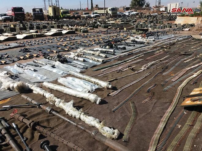 An ninh quân đội Syria phát hiện một số lượng lớn vũ khí ở Quneitra và Daraa ảnh 5