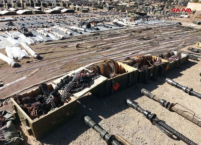 An ninh quân đội Syria phát hiện một số lượng lớn vũ khí ở Quneitra và Daraa ảnh 6