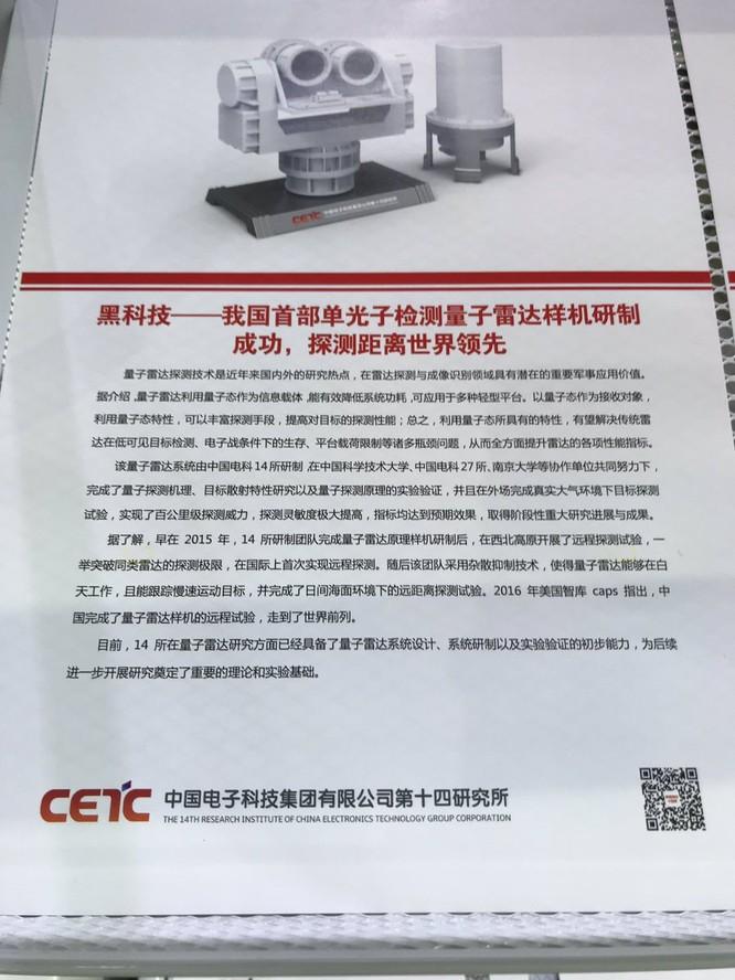 Trung Quốc triển lãm radar lượng tử ở Chu Hải ảnh 1