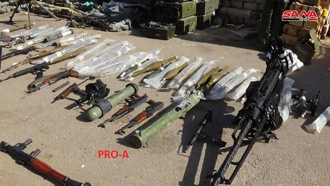 """Quân đội Syria lại phát hiện kho vũ khí mới của """"nổi dậy"""" ở Daraa ảnh 1"""