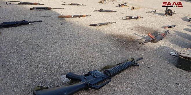 """Quân đội Syria lại phát hiện 2 kho vũ khí lớn của quân """"nổi dậy"""" ở Homs và Quneitra ảnh 1"""
