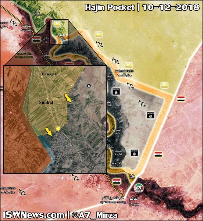 Dân quân người Kurd đẩy lùi khủng bố ở Deir Ezzor, chiếm 1 khu dân cư trong thủ đô Hajin của IS ảnh 1