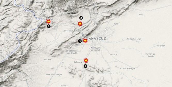 Truyền thông phương Tây đưa chi tiết cuộc không kích Syria của Israel ảnh 1