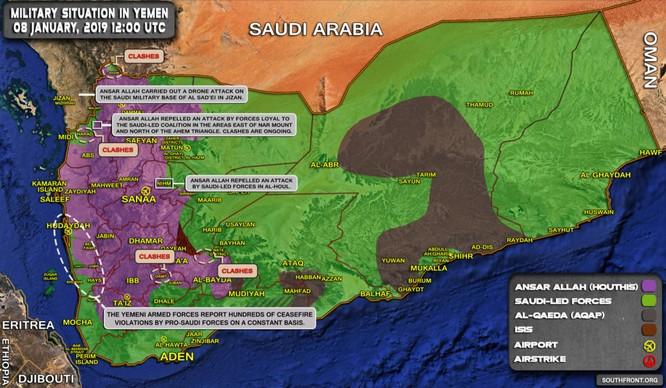 Houthi liên tiếp phóng tên lửa vào Ả rập Xê-út, Liên minh vùng Vịnh chiếm một ngọn núi chiến lược ở Yemen ảnh 1