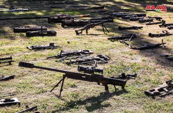 """Quân đội Syria thu giữ một số lượng lớn vũ khí của """"quân nổi dậy"""" ở Đông Ghouta ảnh 3"""