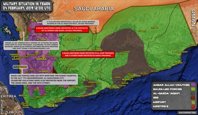 Houthi liên tục tấn công Liên minh quân sự vùng Vịnh, bắn hàng loạt tên lửa vào Ả rập Xê-út ảnh 1
