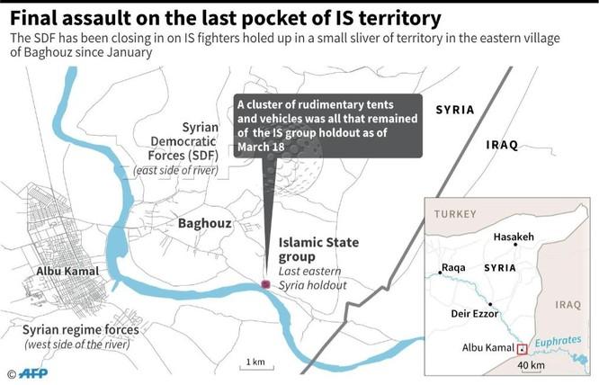 Lực lượng Dân chủ Syria chiếm trại Baghouz, IS lũ lượt ra hàng ảnh 1