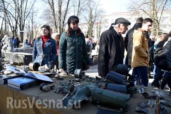 """""""Nước mắt Donbass"""" Lugansk và Donetsk tổ chức triển lãm chứng tích chiến tranh ảnh 10"""