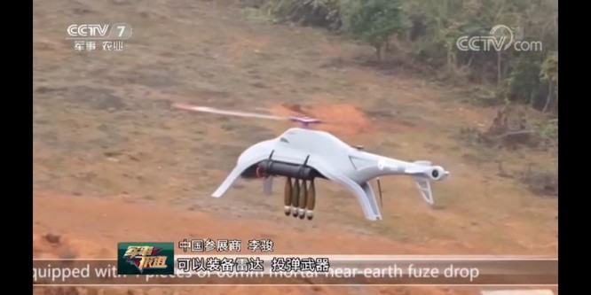 Trung Quốc phát triển trực thăng không người lái ném đạn cối theo kinh nghiệm chiến tranh Syria ảnh 3