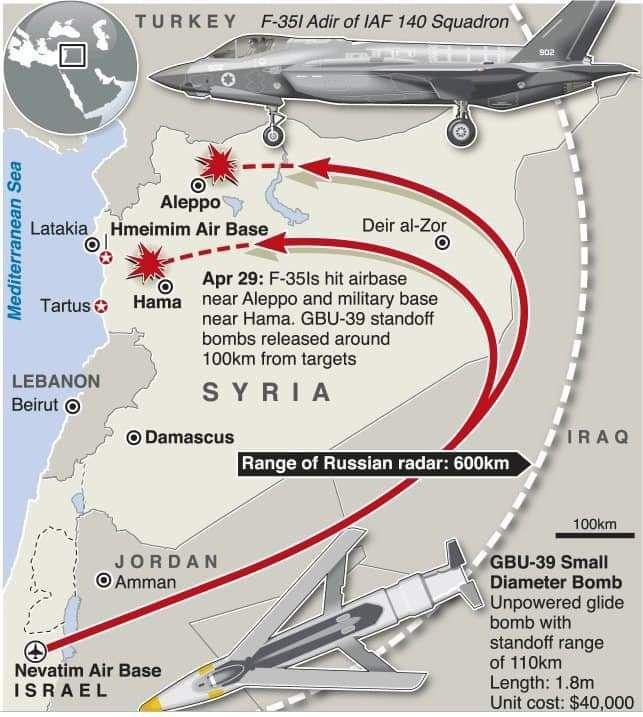 F-35 Israel không kích Aleppo ảnh 1