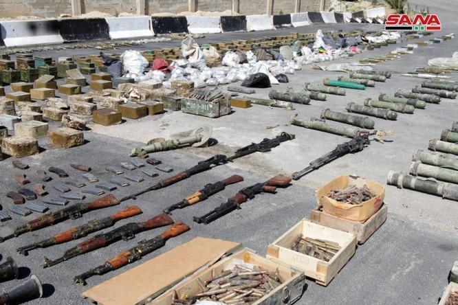 Syria lại thu hoạch một số lượng lớn vũ khí của khủng bố tại ngoại ô Damascus ảnh 4