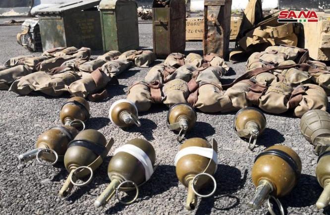 Syria lại thu hoạch một số lượng lớn vũ khí của khủng bố tại ngoại ô Damascus ảnh 8