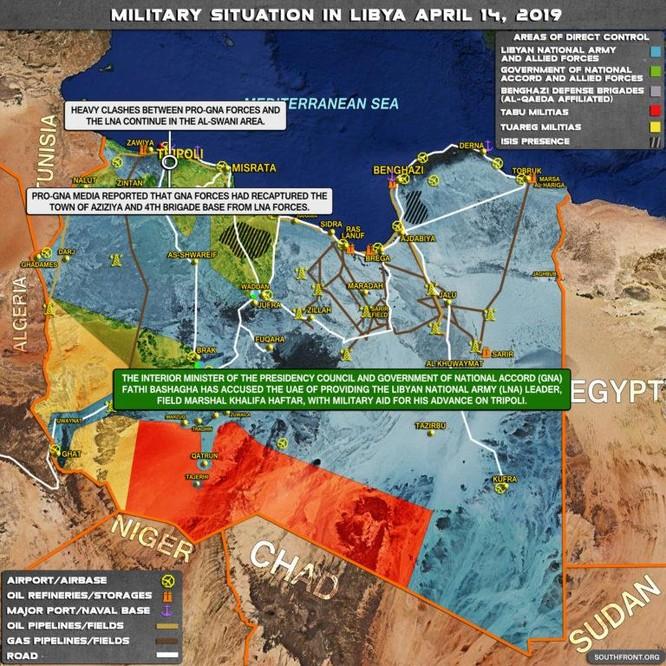 Không quân Quân đội Quốc gia Libya (LNA) đánh phá dữ dội dân quân chính phủ ảnh 3