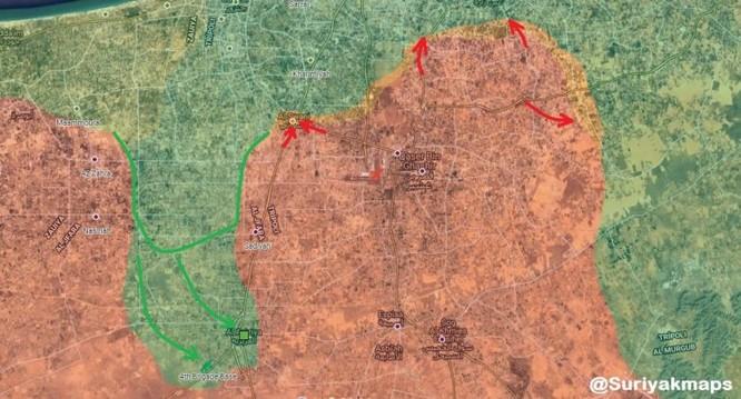 Không quân Quân đội Quốc gia Libya (LNA) đánh phá dữ dội dân quân chính phủ ảnh 4