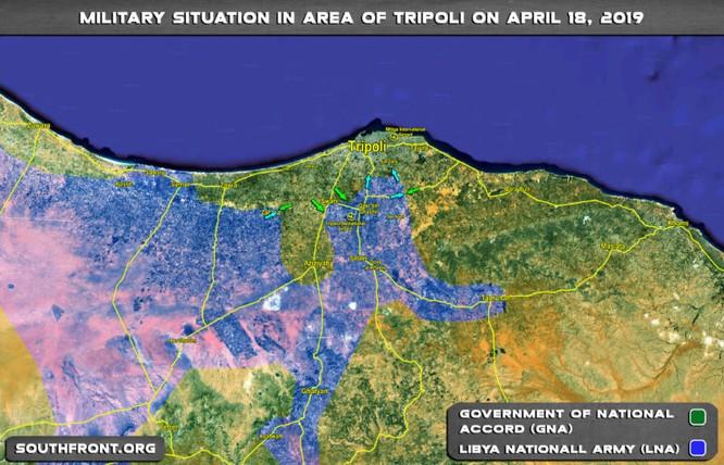 Dân quân Libya GNA đánh vu hồi vào hậu phương Quân đội Quốc gia Libya LNA ảnh 1