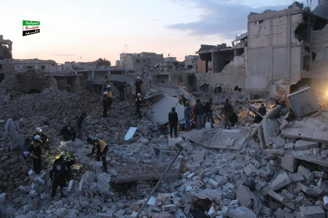 Không quân Nga không kích phá hủy kho vũ khí của khủng bố ở Idlib ảnh 3