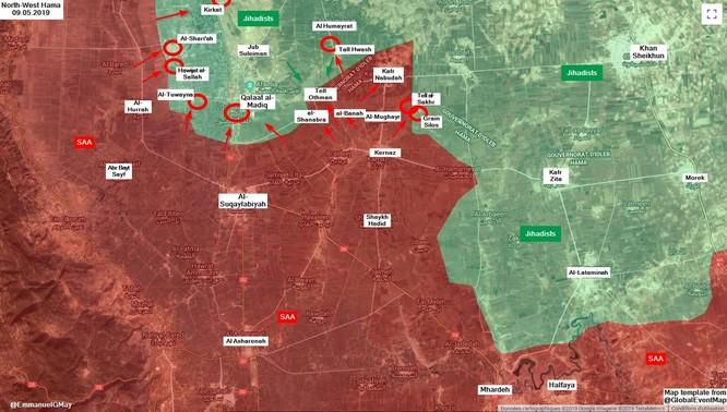 Đặc nhiệm Nga tham chiến trên vùng nông thôn bắc Hama ảnh 1