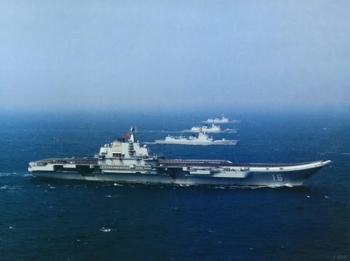 Biên đội tàu sân bay Liêu Ninh, Hải quân Trung Quốc trong một lần huấn luyện chung hiếm hoi (Ảnh tư liệu)