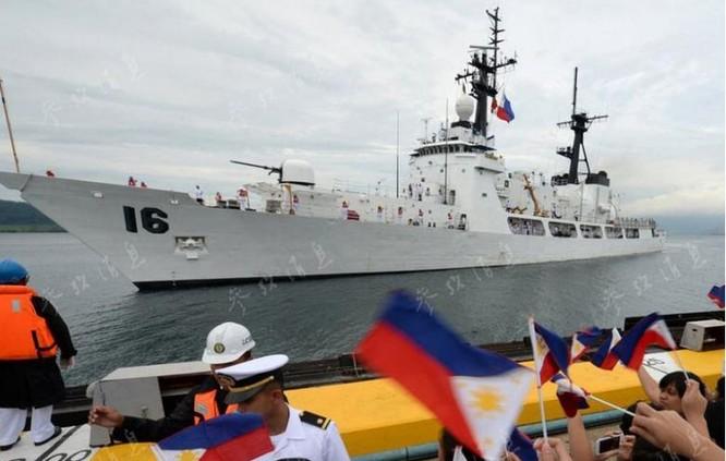 Tàu tuần tra lớp Hamilton đầu tiên Mỹ chuyển giao cho Philippines, về đến Philippines ngày 6/8/2013. Ảnh: Tin tức Tham khảo, Trung Quốc