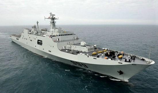 Tàu đổ bộ cỡ lớn Tỉnh Cương Sơn số hiệu 999 Type 071, Hạm đội Nam Hải, Hải quân Trung Quốc.