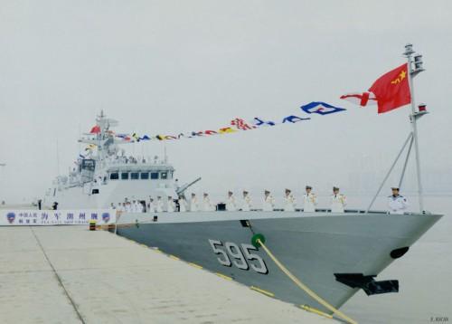 Tàu hộ vệ hạng nhẹ săn ngầm Triều Châu số hiệu 595 Type 056A, Hạm đội Nam Hải, Hải quân Trung Quốc.