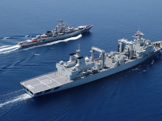 Nga lo ngại về việc tiến hành tập trận chung với Trung Quốc ở Biển Đông. Ảnh: Đa Chiều.