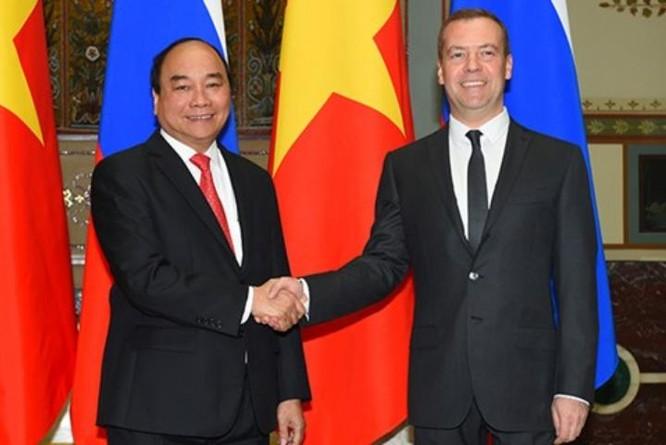 Ngày 16/5/2016, tại Moscow, Thủ tướng Việt Nam Nguyễn Xuân Phúc hội đàm với Thủ tướng Nga Dmitry Medvedev. Ảnh: Trang thông tin Chính phủ.