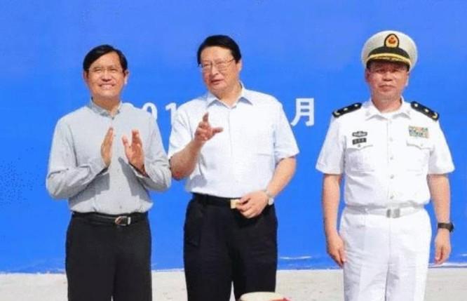 Trung Quốc tổ chức Lễ hạ thuy tàu khu trục Type 052D thứ 11. Ảnh: Thời báo Hoàn Cầu, Trung Quốc.