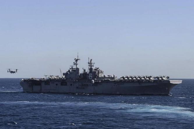Tàu tấn công đổ bộ USS Bonhomme Richard LHD-6. Ảnh: navaltoday