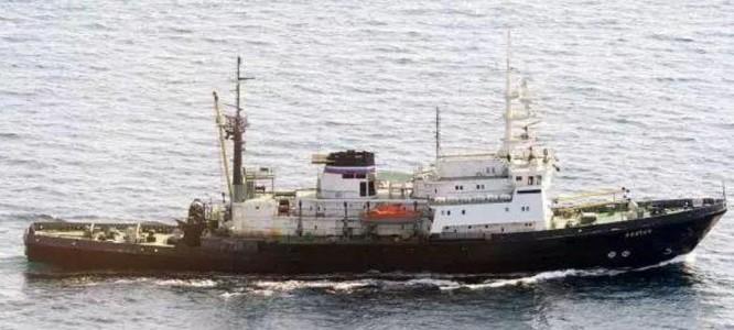 Tàu kéo biển xa Alatau Hạm đội Thái Bình Dương Nga. Ảnh: Báo Nhân Dân, Trung Quốc.