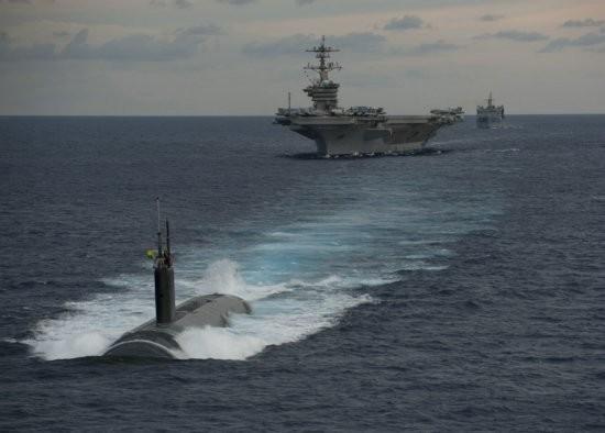 Mỹ và Ấn Độ tiến hành tập trận chung ở Ấn Độ Dương năm 2012 (ảnh tư liệu)