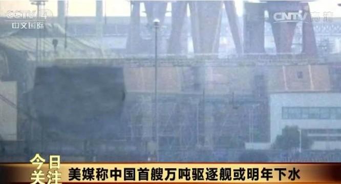 Hình ảnh tàu khu trục Type 055 do báo chí Mỹ công bố. Ảnh: báo Nhân Dân, Trung Quốc.