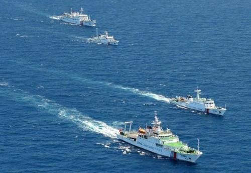 Lực lượng tàu cảnh sát biển Trung Quốc lao đến vùng biển đảo Senkkau (ảnh tư liệu)