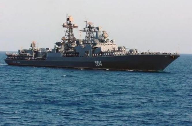 Tàu khu trục săn ngầm cỡ lớn Admiral Tributs lớp Udaloy Hạm đội Thái Bình Dương Nga. Ảnh: Tin tức Tham khảo, Trung Quốc.