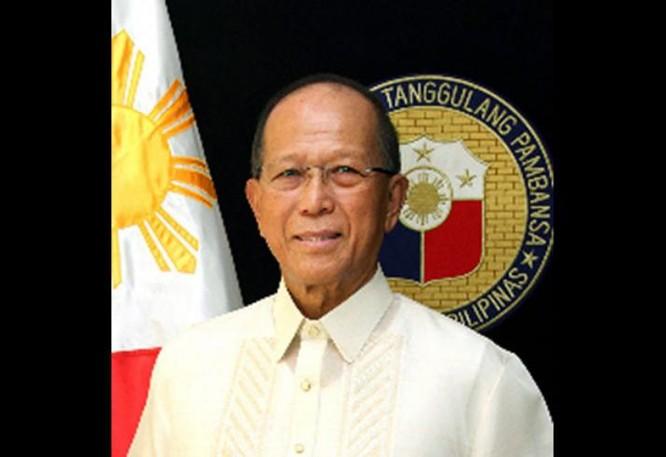 Bộ trưởng Quốc phòng Philippines, Delfin Lorenzana. Ảnh: Philstar