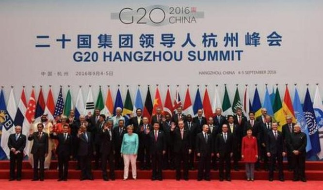 Hội nghị Thượng đỉnh G20 tổ chức tại Hàng Châu, Trung Quốc từ ngày 4 - 5/9/2016. Ảnh: Sina