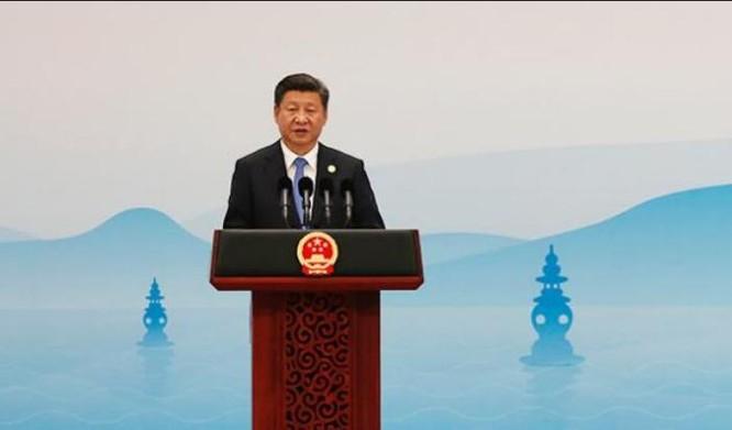 Ông Tập Cận Bình họp báo giới thiệu kết quả Hội nghị Thượng đỉnh G20. Ảnh: Thời báo Hoàn Cầu, Trung Quốc.