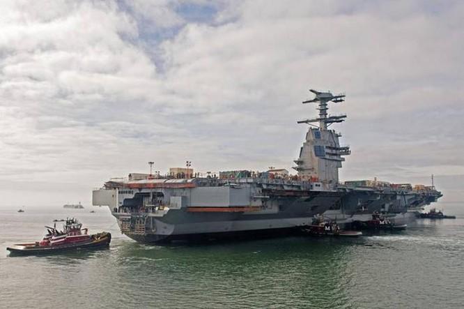 Tàu sân bay USS Gerald R. Ford Mỹ đang thử nghiệm (ảnh tư liệu)